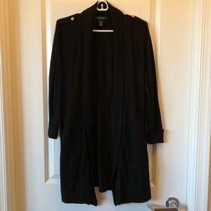 White House Black Market Long Black Cardigan